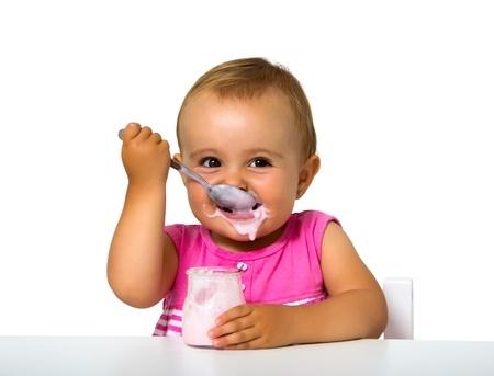 Baby ist Joghurt