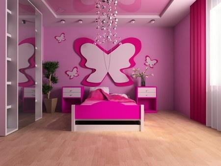 Kinderzimmer in rosa und pink