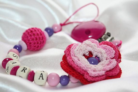 Schnullerkette rosa